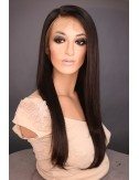 Malaysian Virgin Straight Glueless Silk Top Full Lace Wigs