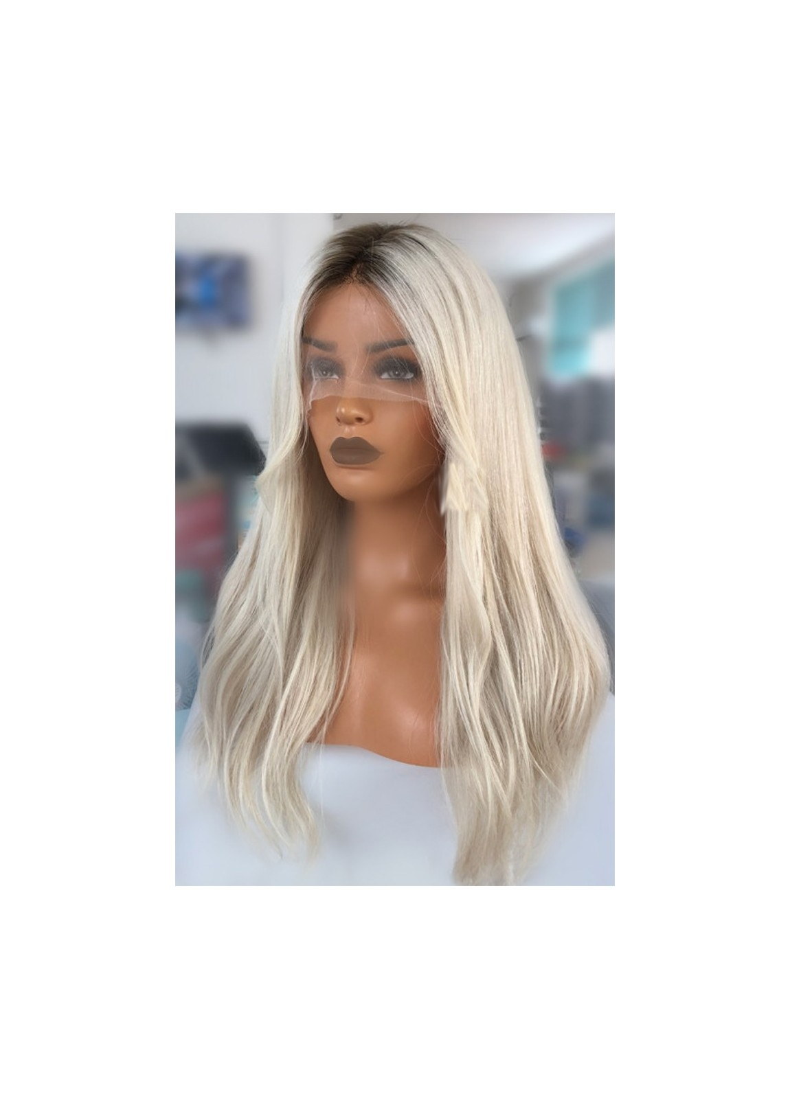 Kim Kardashian Long Blonde Wig