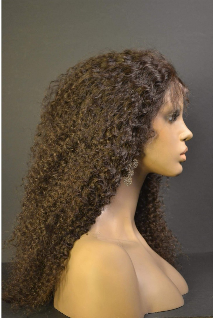 Kinky Curly | Glueless Lace wigs with silk top