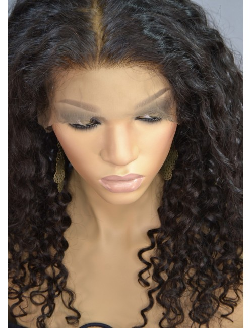 Mya |Brown Curly Human Hair Wigs