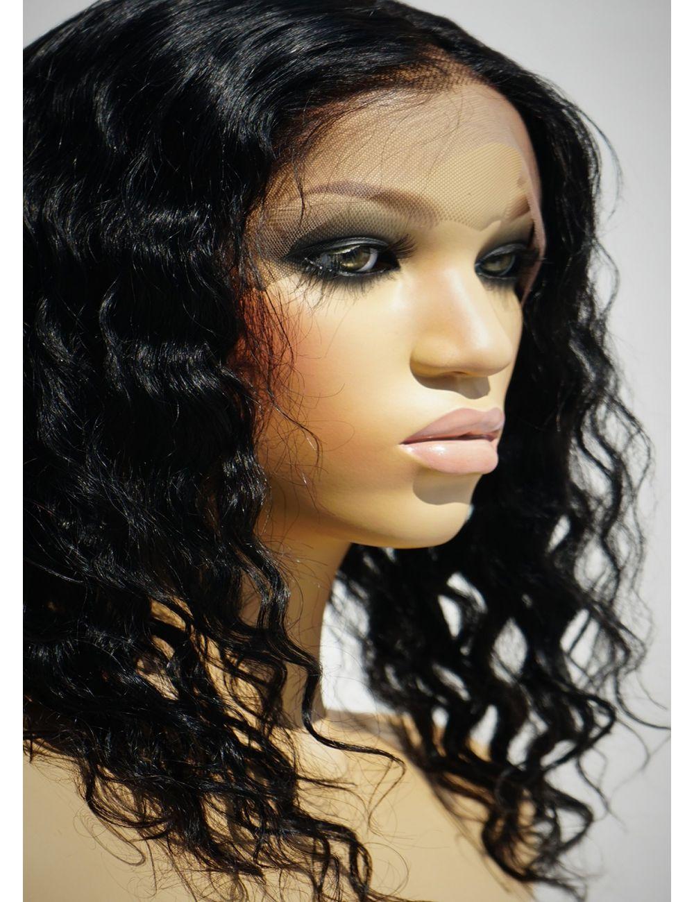 Shoulder Length Black Wigs