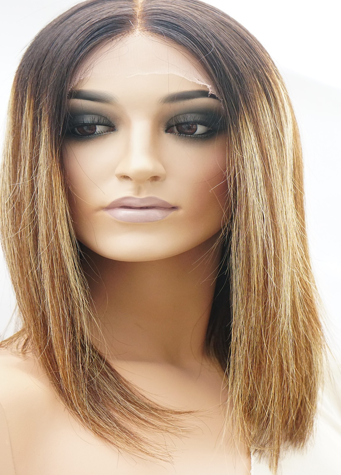 Human Hair Lace Front Wigs Caucasian