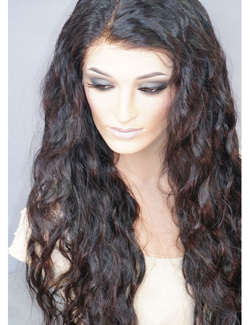 Lynn   Lace Front Human Hair Wig Natural Deep Wave