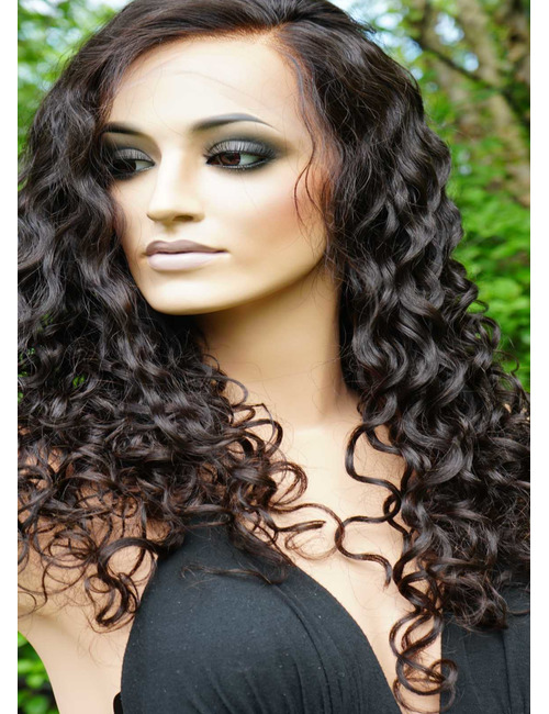 Curly glueless full lace wig