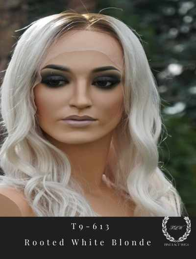 rooted white blonde wig