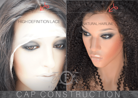Seletct from a variety of cap construction design for lace wigs for women.