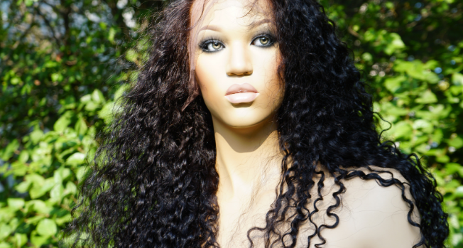 Jerry curl wig human hair