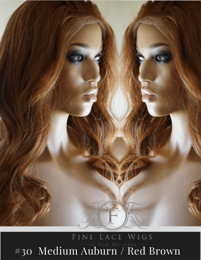 Natural Beautiful Auburn Color Hair Wigs of the highest quality