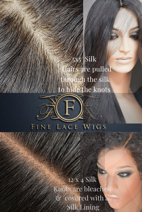 A beautiful high quality silk base natural lace wigs