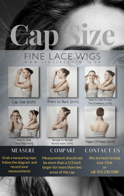 How to measure your head for a custom wig size