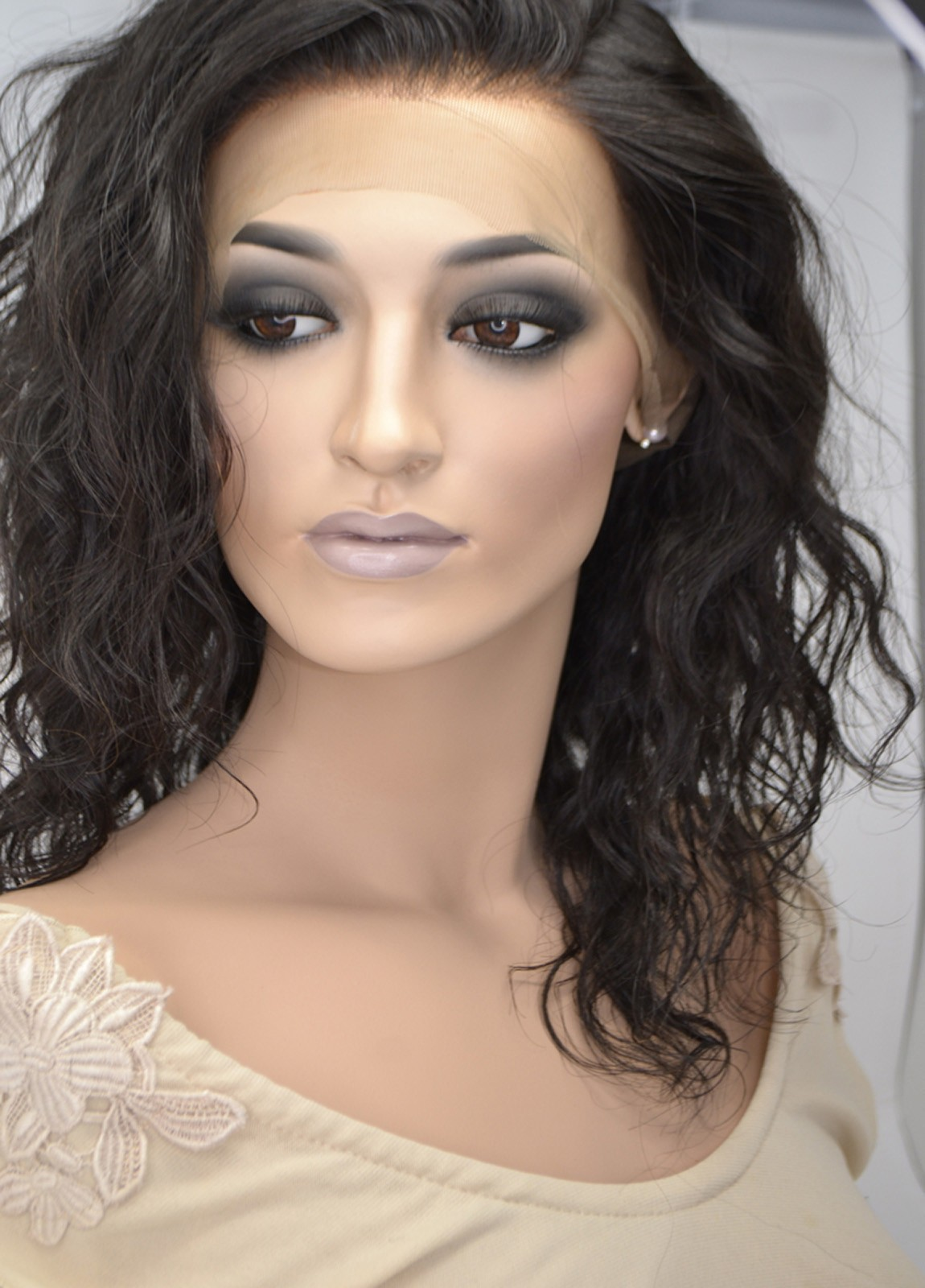 wavy front lace wigs